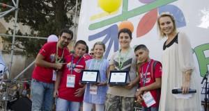 Cinque ragazzi dell'Acr di Vicenza premiati a Roma