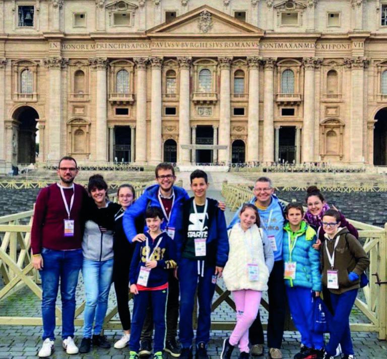 A Roma, con papa Francesco per festeggiare