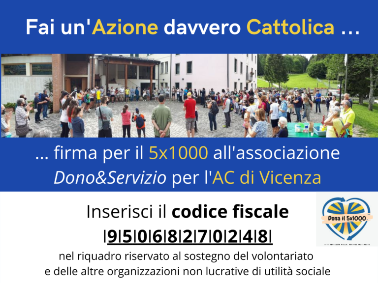 5×1000 all'Azione Cattolica di Vicenza