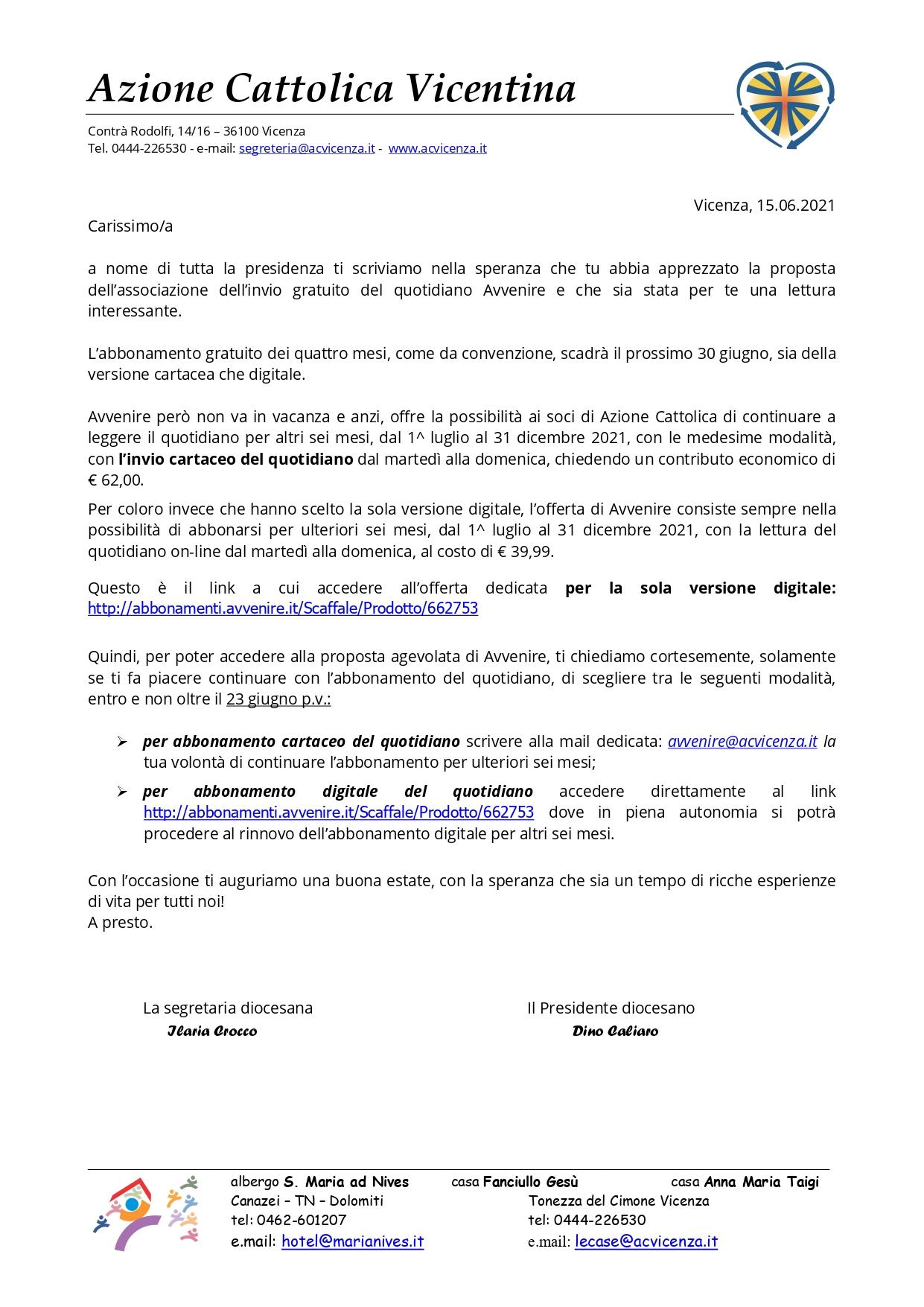 Lettera soci per promozione abbonamento Avvenire 1^luglio-31 dicembre 2021_page-0001